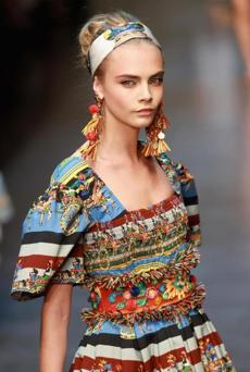 WHO: Cara Delevingne. SIGNATURE: Brazen brows. WHERE YOU'VE SEEN HER: Burberry's spring 2012 campaign with